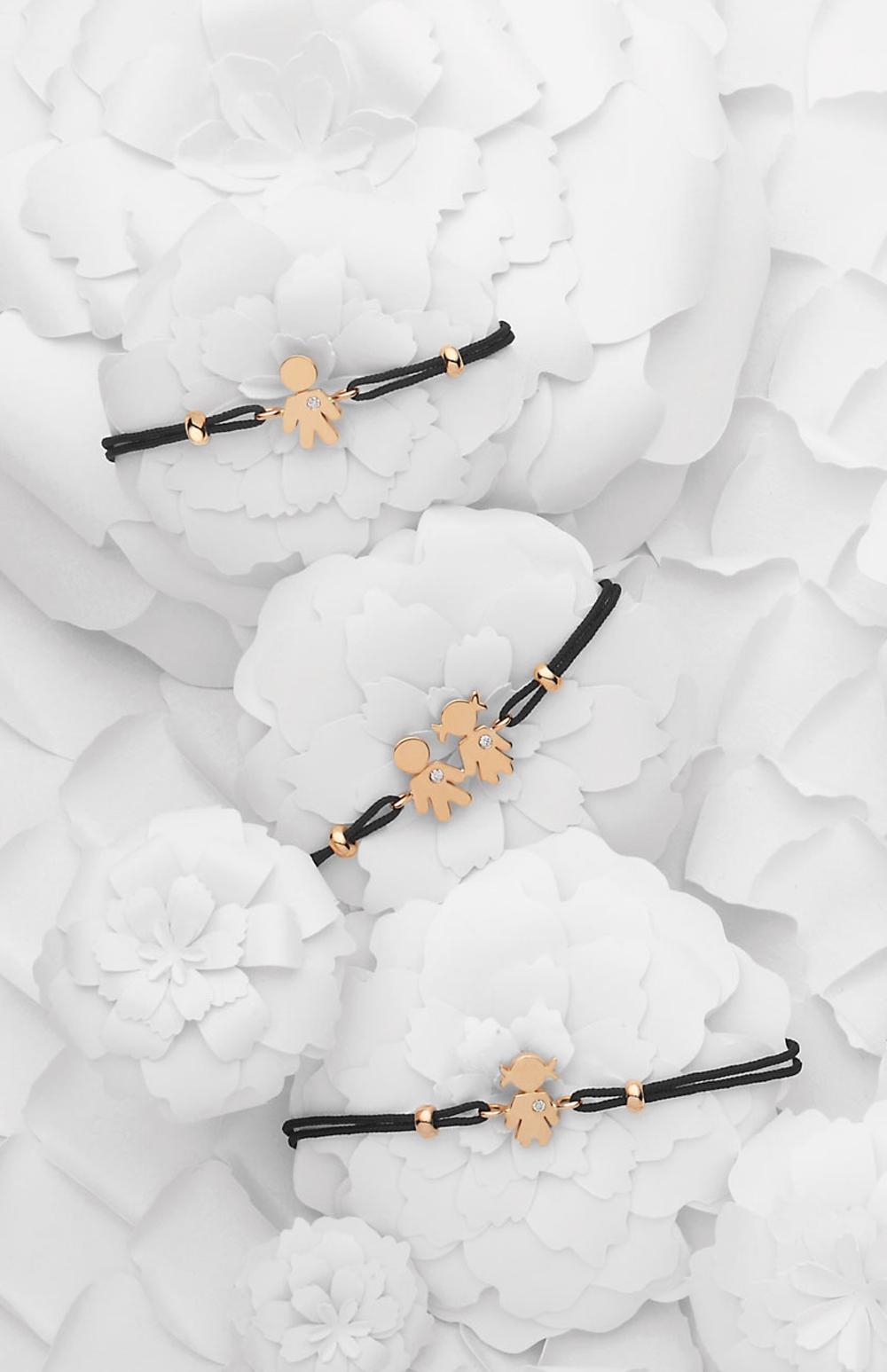 Bimbo Bimba bracelet pink gold and brilliant | Easy - by Crivelli