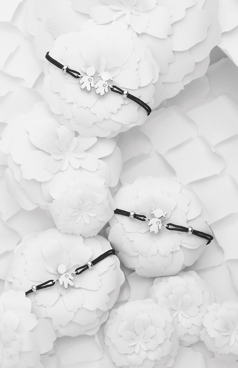 Bracciali Bimbo Bimba oro bianco e brillanti | Easy - Un marchio Crivelli