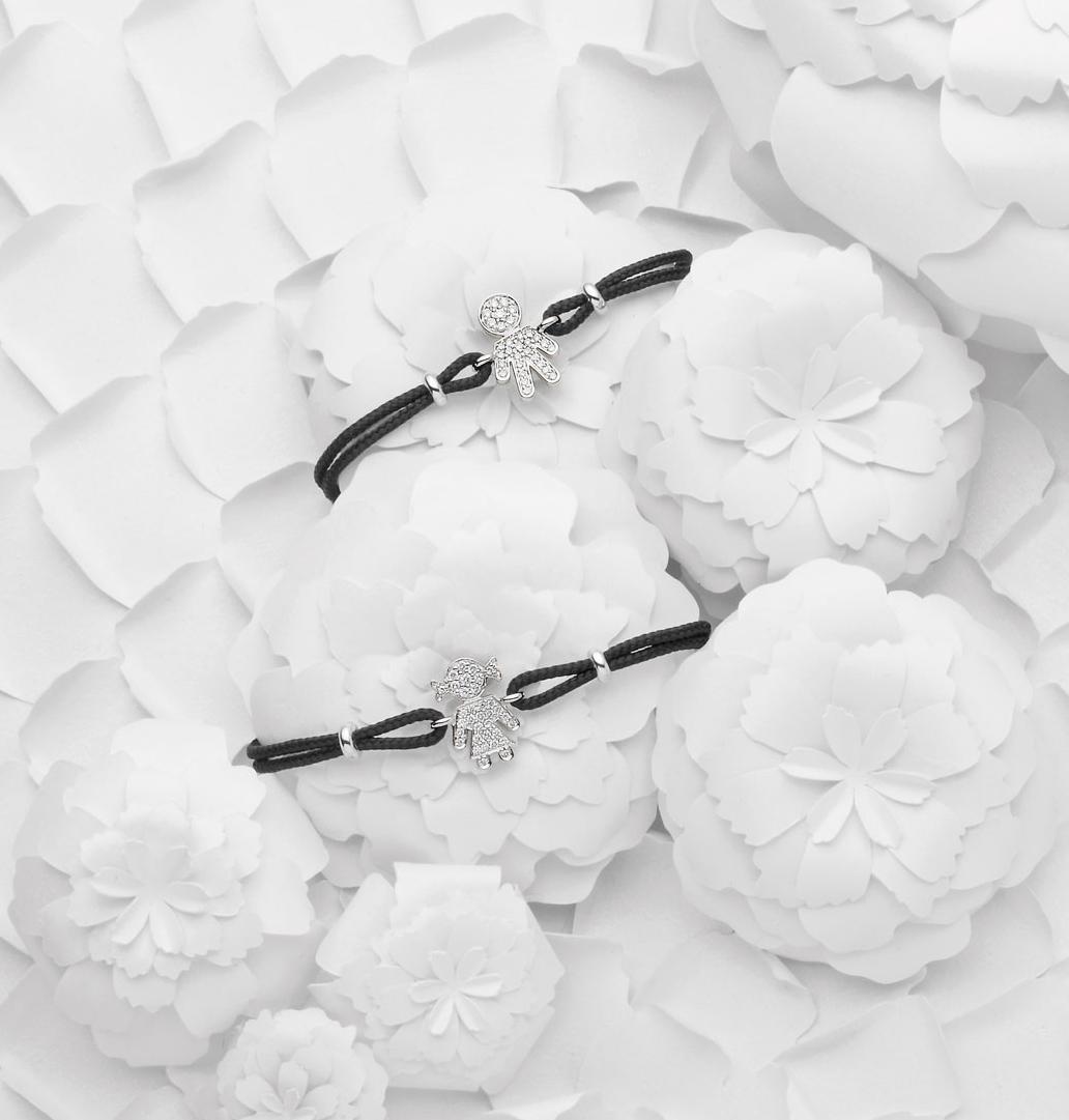 Bimbo Bimba bracelets white gold and brilliants | Easy - by Crivelli
