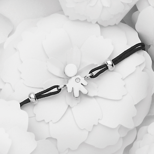 Bimbo bracelet white gold and brilliant | Easy - by Crivelli
