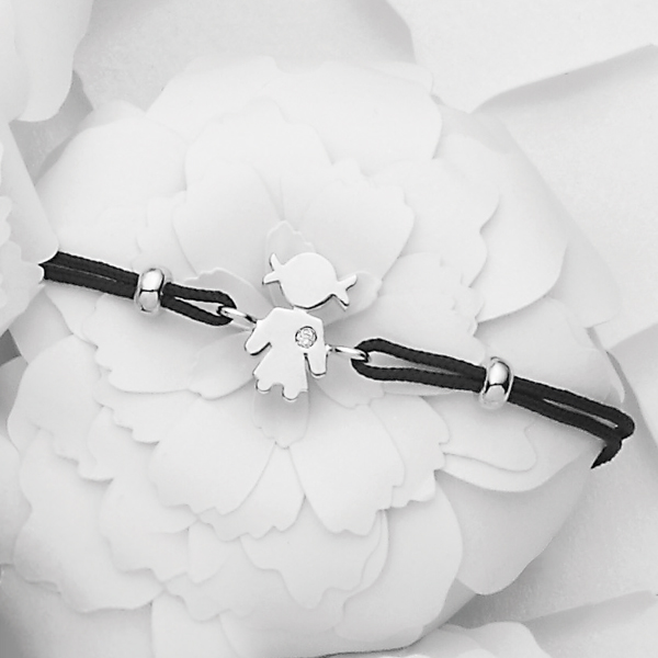 Bimba bracelet white gold and brilliant | Easy - by Crivelli
