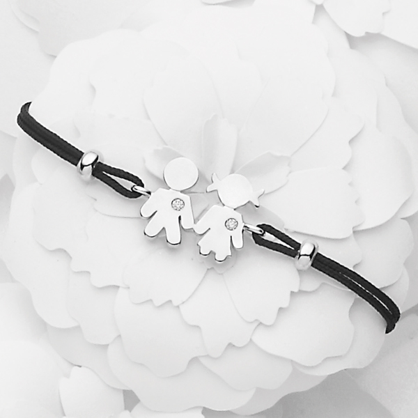 Bimbo Bimba bracelet white gold and brilliants | Easy - by Crivelli