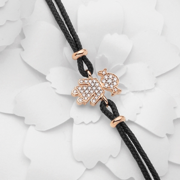 Bimba bracelet pink gold and brilliants | Easy - by Crivelli