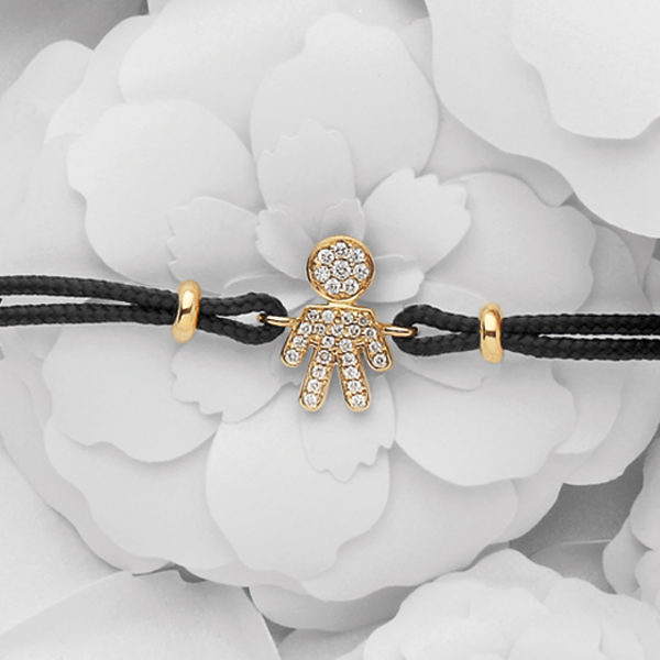 Bimbo bracelet pink gold and brilliants | Easy - by Crivelli