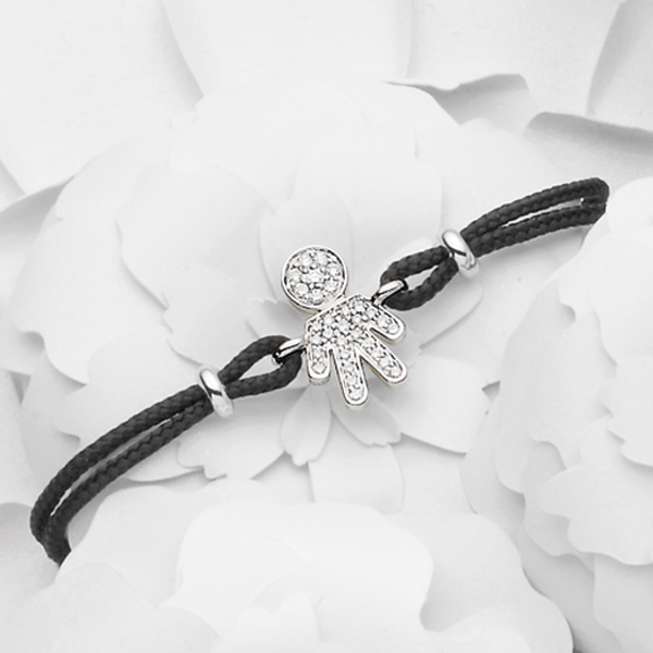 Bimbo bracelet white gold and brilliants | Easy - by Crivelli