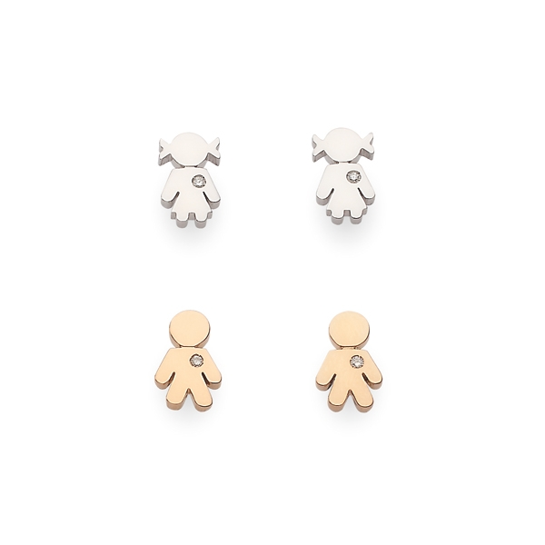 Bimbo Bimba earrings gold and brilliants | Easy - by Crivelli