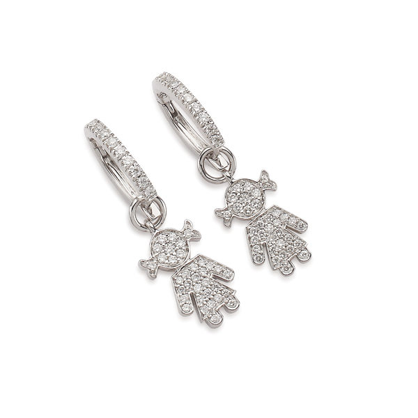 Bimba earrings white gold and brilliants | Easy - by Crivelli