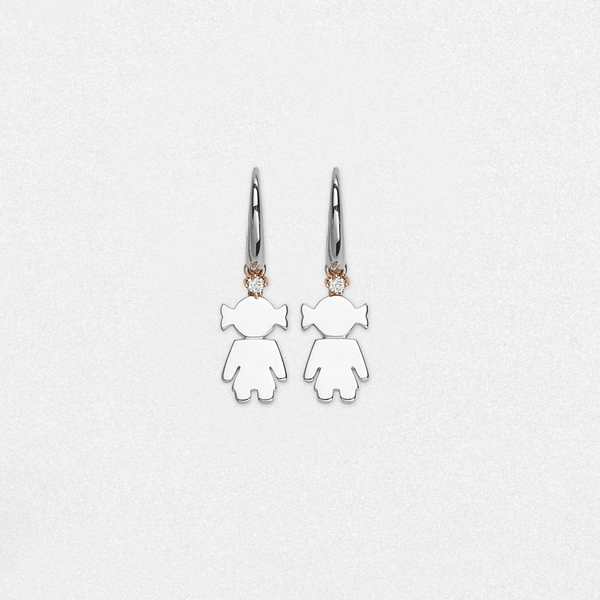 Bimba earrings silver and brilliant | Easy - by Crivelli