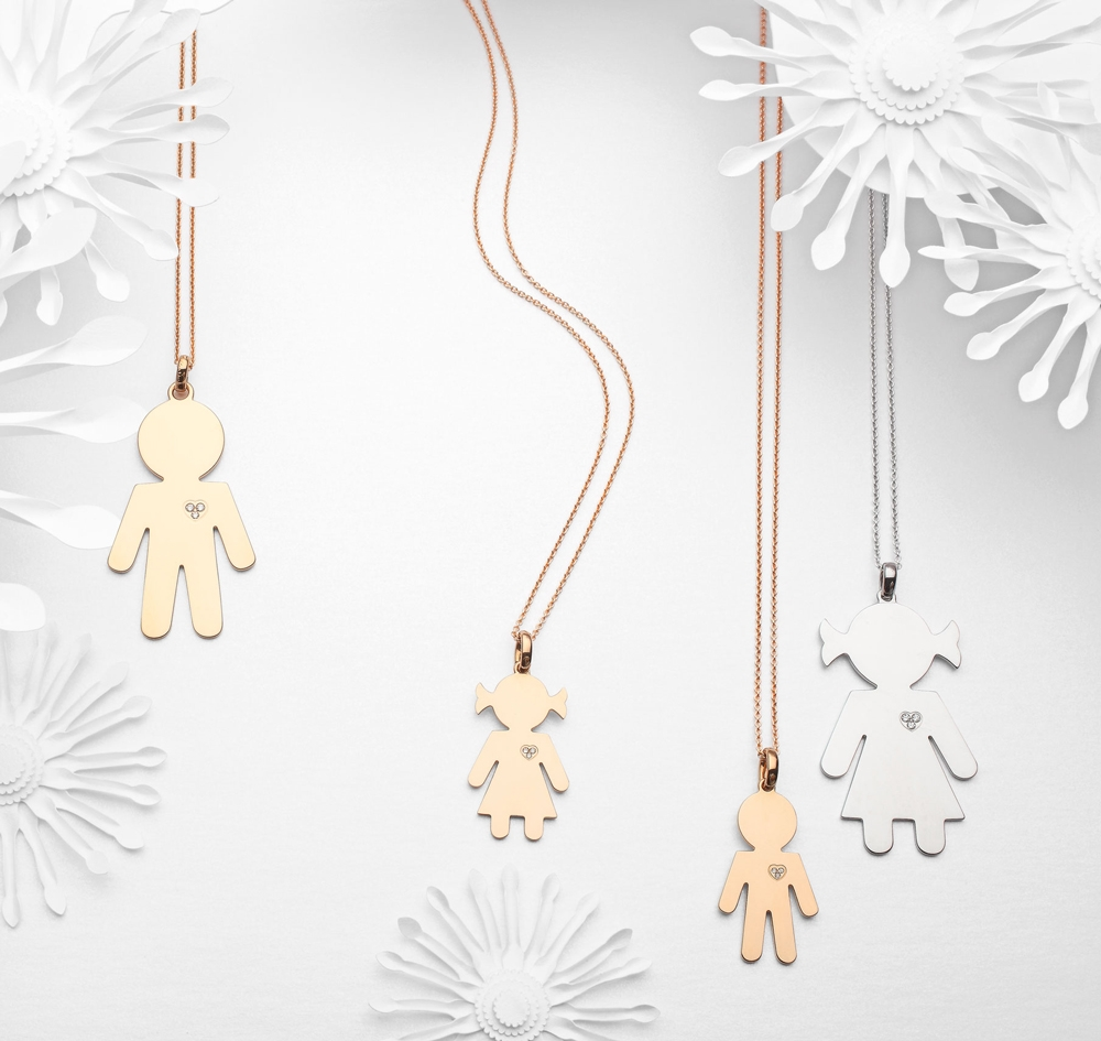 Bimbo Bimba necklaces gold and brilliants | Easy - by Crivelli