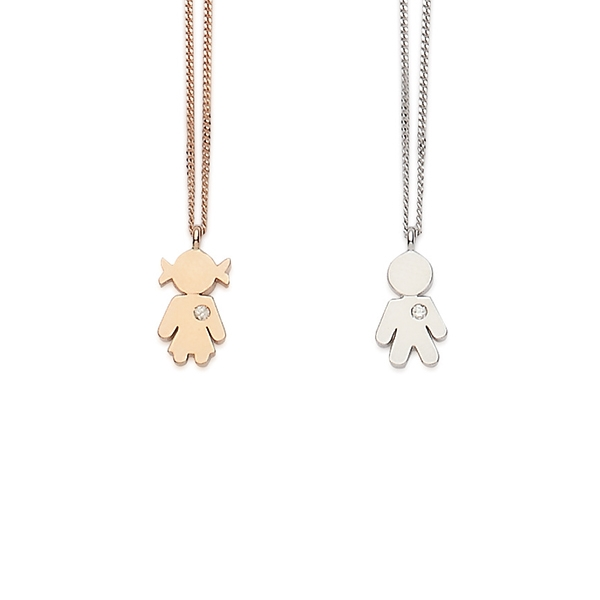 Bimbo Bimba necklaces gold and brilliant | Easy - by Crivelli