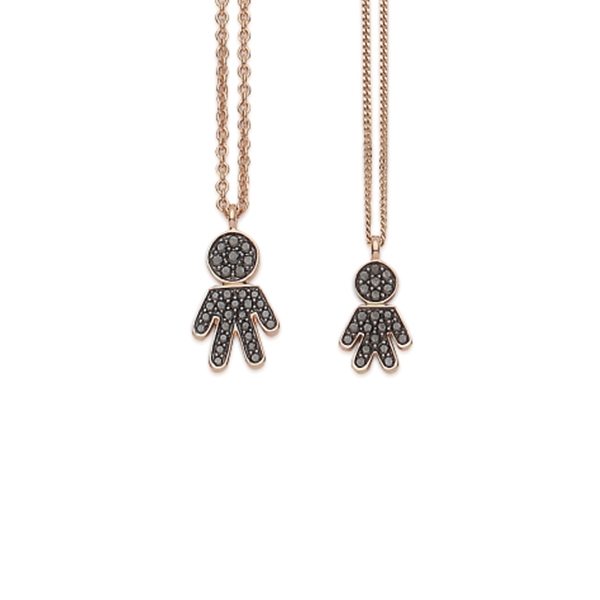 Bimbo necklaces pink gold and brilliants | Easy - by Crivelli