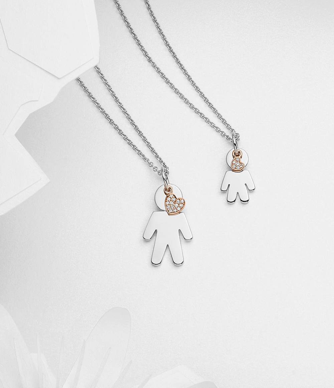 Bimbo pendants silver and brilliants | Easy - by Crivelli