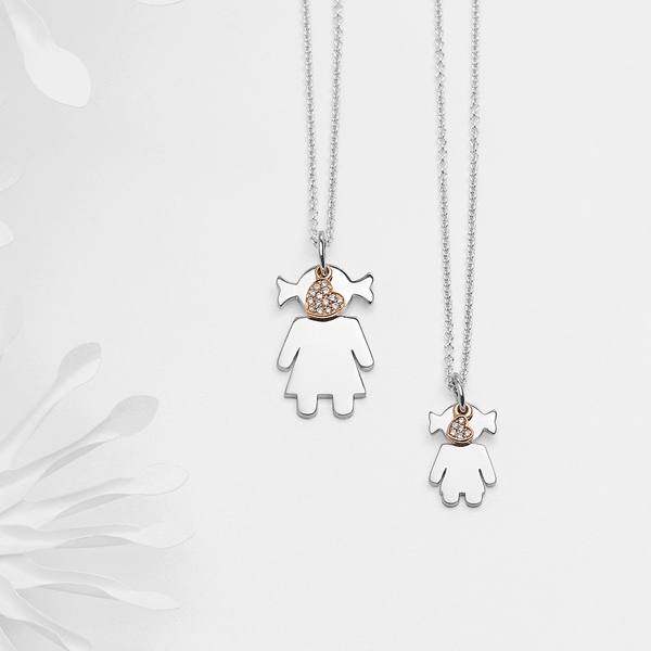 Bimba pendants silver and brilliants | Easy - by Crivelli