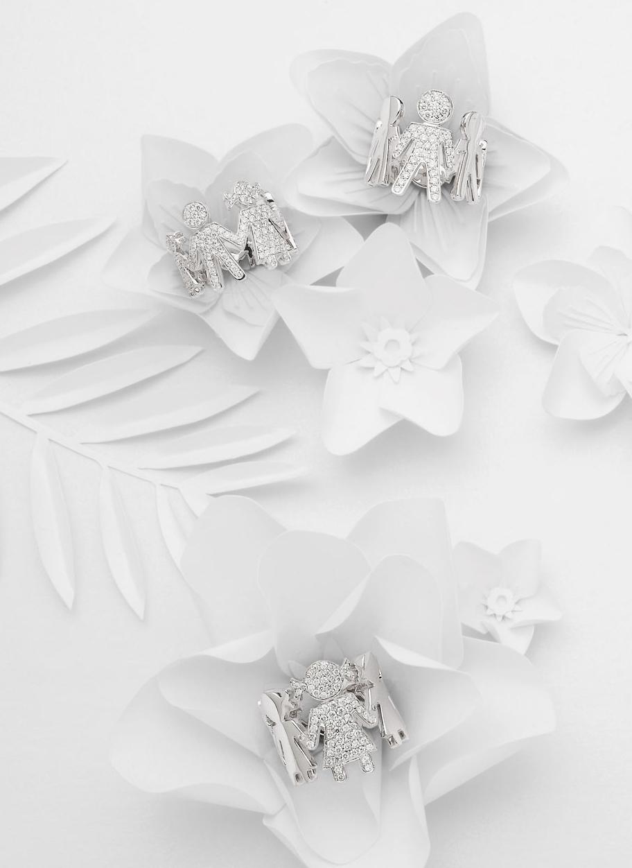 Bimbe Bimbi rings white gold and brilliants | Easy - by Crivelli