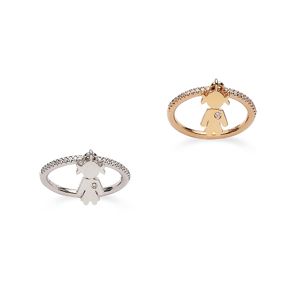 Bimba rings gold and brilliants | Easy - by Crivelli