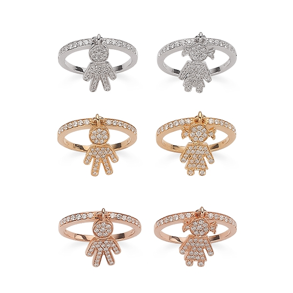 Bimbo Bimba rings gold and brilliants | Easy - by Crivelli