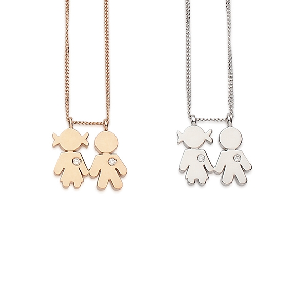 Bimbi necklaces gold and brilliants | Easy - by Crivelli