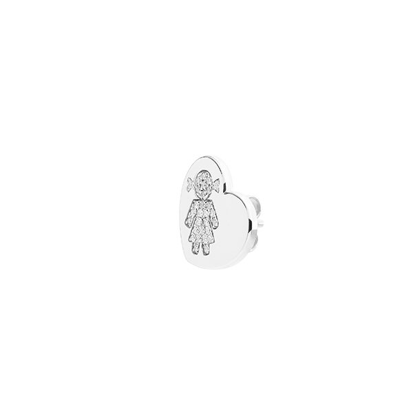 Heart earrings Bimba white gold and brilliants | Easy - by Crivelli
