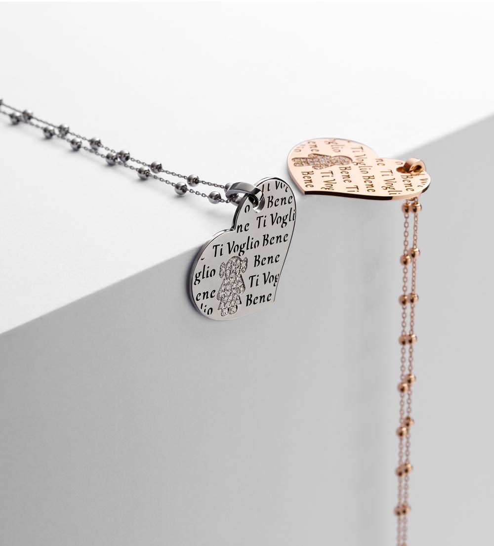 Collane cuore Bimbo Bimba oro e brillanti | Easy - Un marchio Crivelli