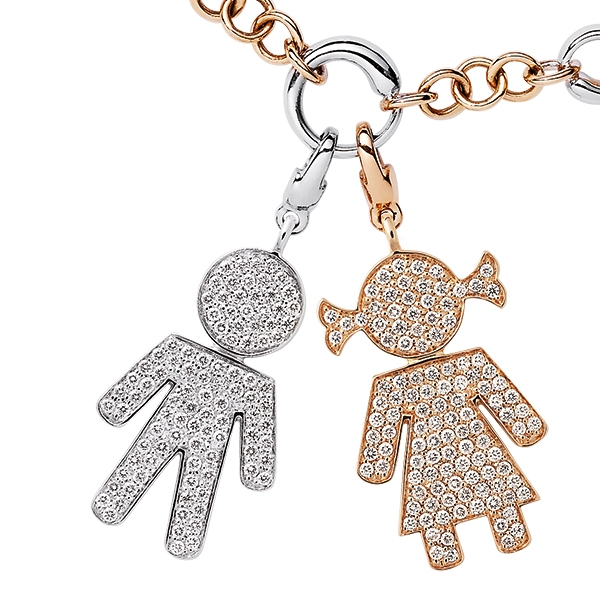 Bimbo Bimba charms gold and brilliants | Easy - by Crivelli
