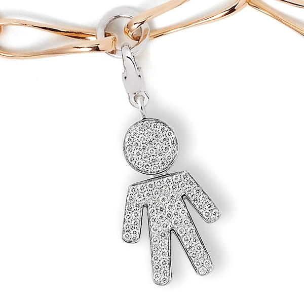 Bimbo charm white gold and brilliants | Easy - by Crivelli
