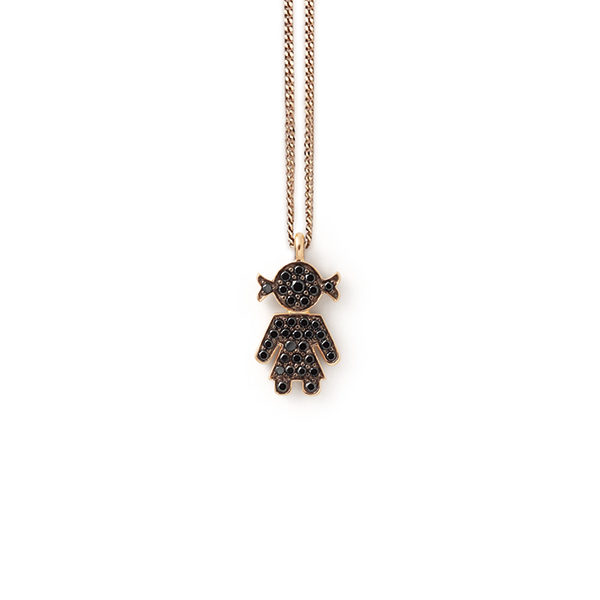 Bimba pendant pink gold and brilliants | Easy - by Crivelli