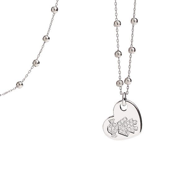 Necklace heart Bimba white gold and brilliants | Easy - by Crivelli
