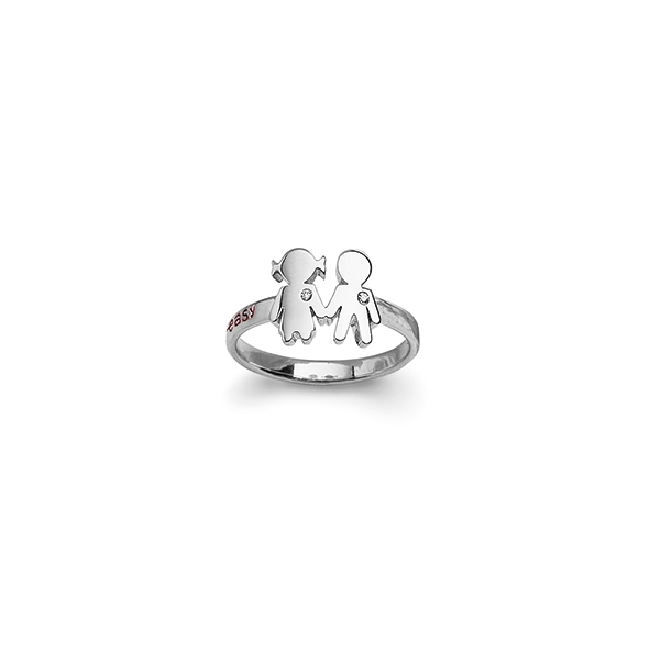 Bimba Bimbo ring white gold and brilliants | Easy - by Crivelli